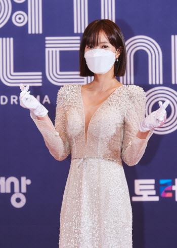 'MBC 연기대상' 임수향, 하트 포즈