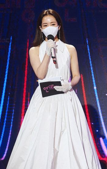 'MBC 연기대상' 한지민, 여신 미모